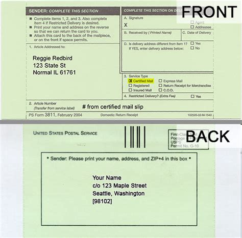 certified mail return receipt template why do i use a certified or registered mail return receipt