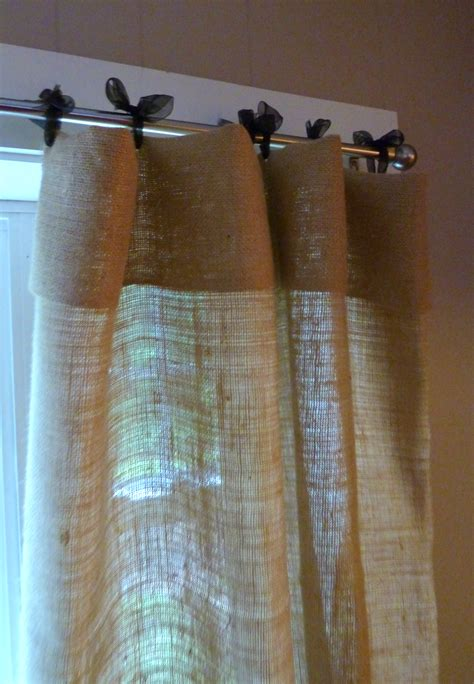 how to make curtains out of burlap the muse a little corner of bates mercantile co does