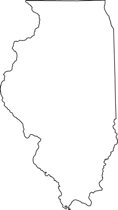 us map illinois state map illinois state 183 free vector graphic on pixabay