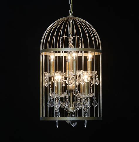 Gold Cage Chandelier Bird Cage Chandelier In Antique Gold Medium