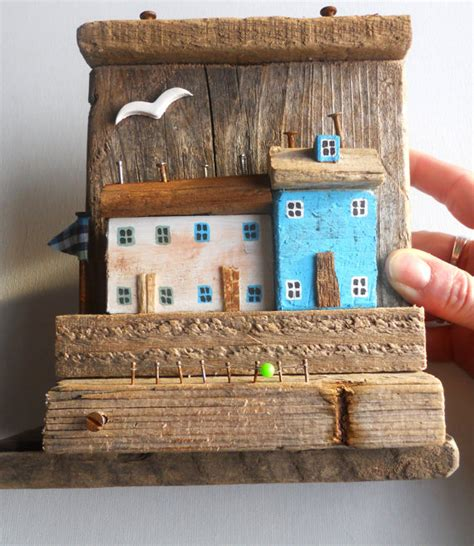 Driftwood Bathroom Accessories Items Similar To Ready To Ship Nautical Driftwood House Driftwood Cottage Driftwood Harbor