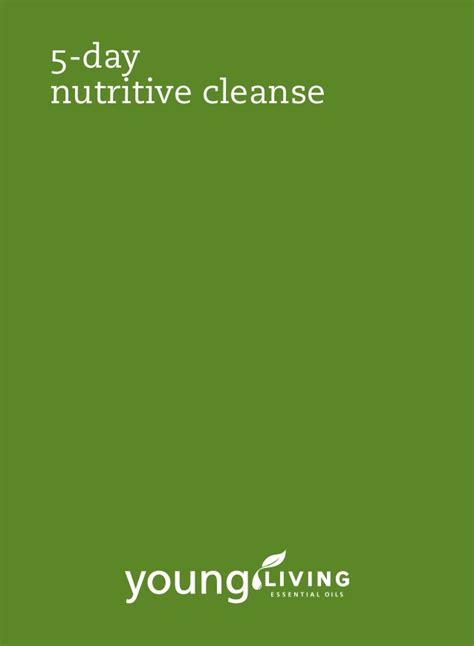 5 Day Clean Detox Plan by 5 Day Nutritive Cleanse Yl