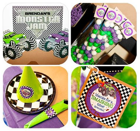 grave digger monster truck party supplies 23 best monster jam party images on pinterest