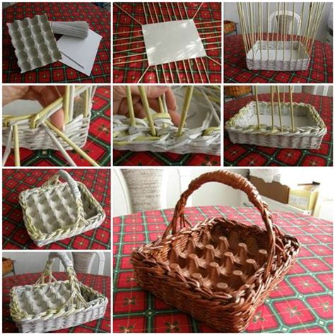 How To Make A Woven Basket Out Of Paper - diy easter egg basket out of woven paper home design