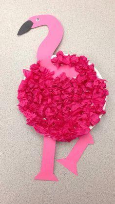 Pin By Tara Bergeron On Diy Crafts - flamingo craft paper plate tissue paper created by tara