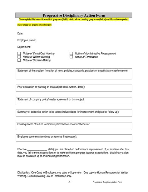 disciplinary form template word best photos of employee disciplinary print forms