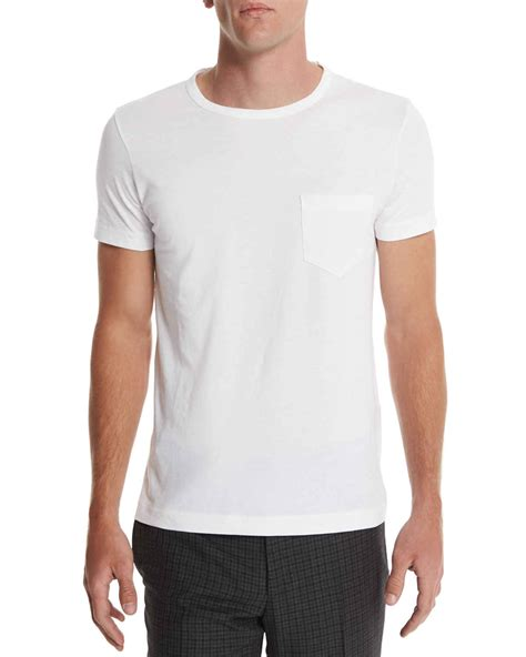 Tom Ford T Shirt by Tom Ford Crewneck Sleeve T Shirt In White For Lyst