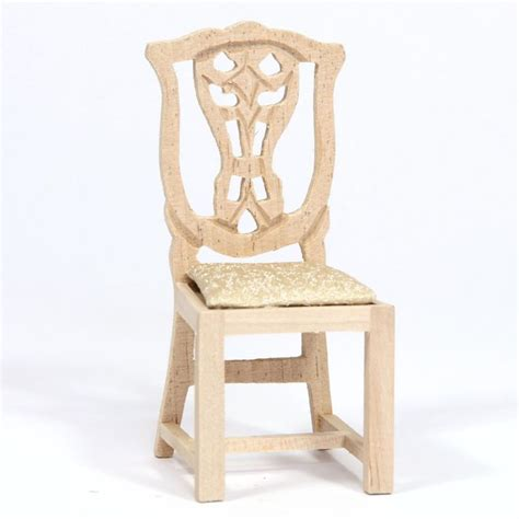 plain wooden dolls house dolls house dining chair plain wood bef065