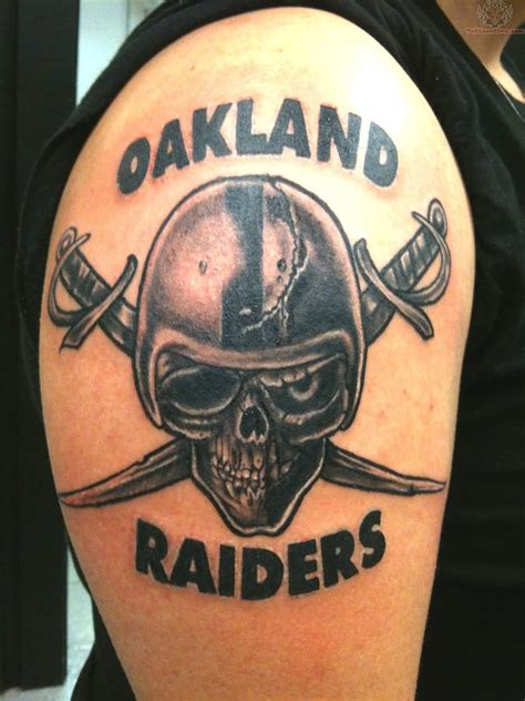 raiders tattoos 52 best oakland raiders tattoos