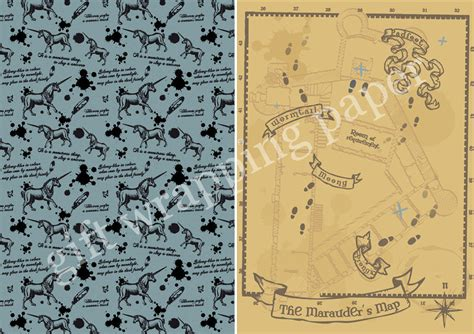 Funny Geek Wrapping Paper Popsugar Tech Marauders Map Template