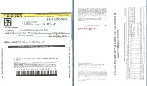 money order receipt template western union money order receipt how to write out a money