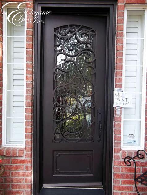 Custom Wrought Iron Front Door Single Doors Pinterest Iron Front Door