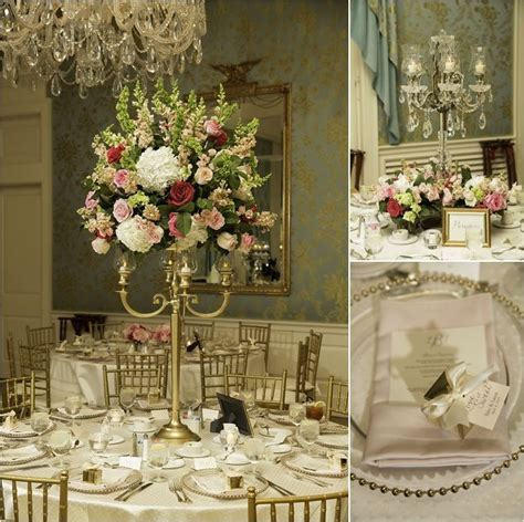 Ivory, Pink, Gold & Green Wedding Decor ~ Elegant Wedding