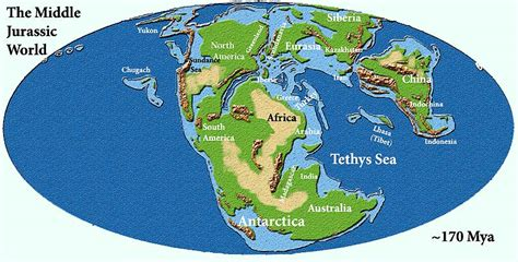 jurassic map america middle jurassic palaeos org
