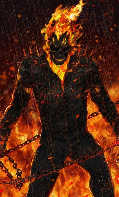 wallpaper bergerak ghost rider 1280x2120 ghost rider artwork hd iphone 6 hd 4k