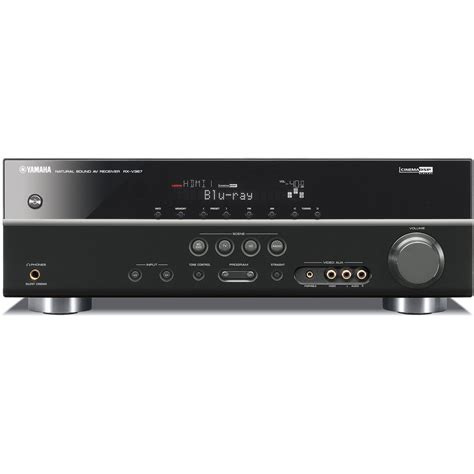 yamaha rx v367 5 1 channel home theater receiver rx v367bl b h