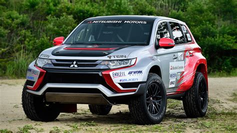 mitsubishi race car 2016 mitsubishi outlander phev baja race car review