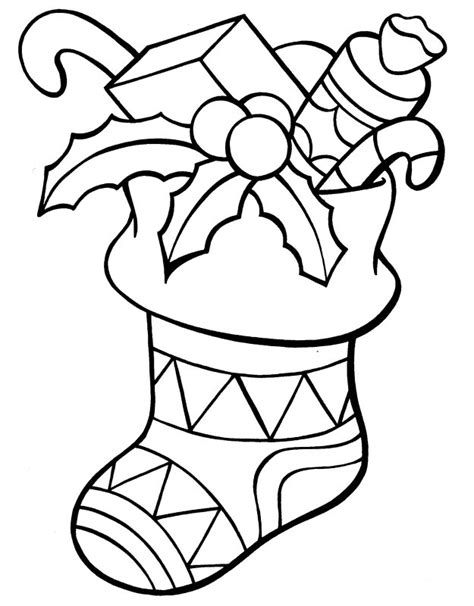 coloring page for christmas stocking christmas stocking coloring pages