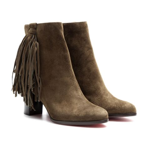christian louboutin ankle boots christian louboutin jimmynetta 70 fringed suede ankle