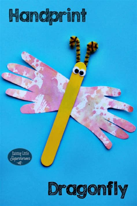 handprint craft for handprint dragonfly craft shapes raising and nature