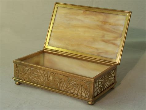 Dresser Boxes by 8342 Studios Bronze And Glass Pine Needle Dresser