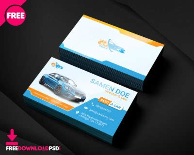 free car rental business card template happy mothers day flyer free psd freedownloadpsd