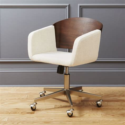 fillmore wooden office chair cb2