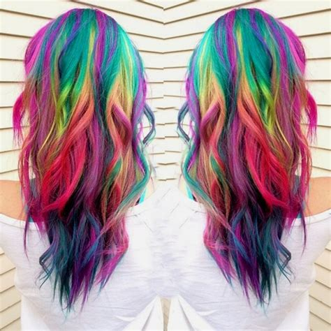 hairstyle dye hair pictures 20 rainbow hair pictures to join the unicorn tribe
