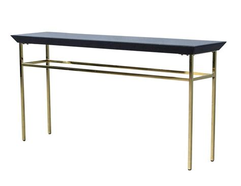 metal console table black glass and gold metal console table at 1stdibs