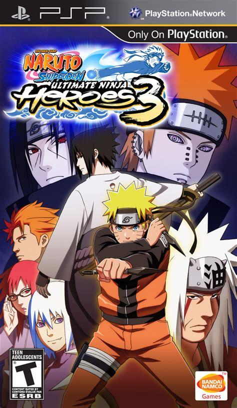 game psp naruto format iso psp naruto shippuden ultimate ninja heroes 3 hiero s