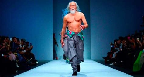 Cat Walk 80 year model owns the catwalk
