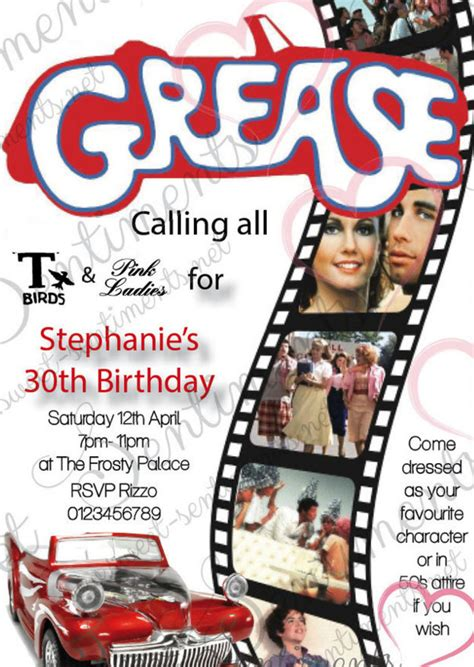 Get Lots Of Fun With Grease Themed Party Home Party Theme Ideas Grease Invitation Template