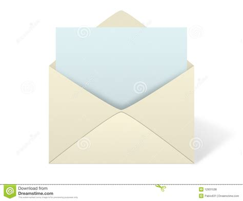 Envelopes Out Of Paper - envelope on white background royalty free stock photos