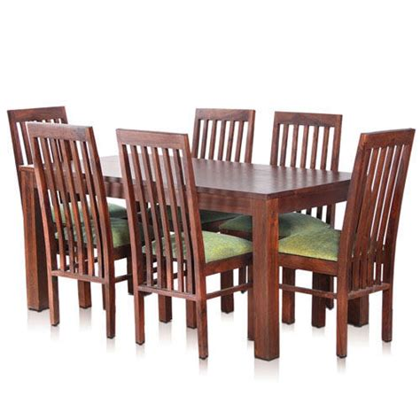 Solid Wood Dining Table And 6 Chairs Bombay Solid Wood Dining Table With 6 Chairs Mynesthome Dot Noida Id 6170009755