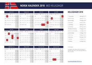 Kalendar 2018 Pdf Kalender 2018 Med Helligdager