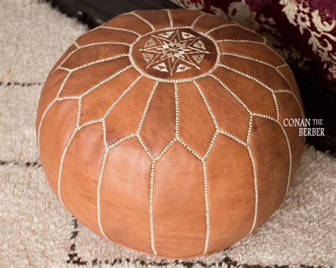 Moroccan Handmade - handmade moroccan pouf genuine leather ottoman footstool