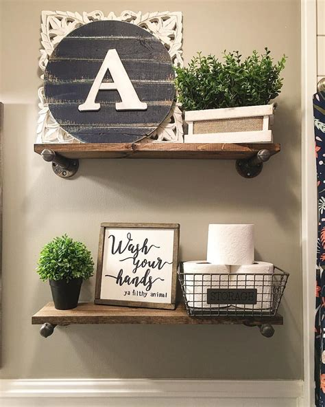 bathroom shelf decorating ideas 573 likes 17 comments robin norton rock n robs on