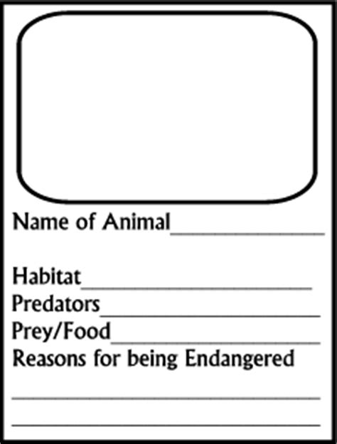 make your own trading cards endangered species make your own trading cards