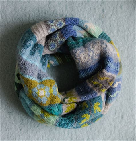 ravelry blue  green pattern  cello knits