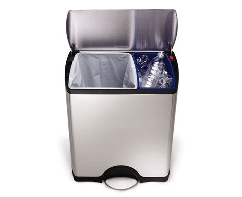 small kitchen garbage cans simplehuman trash cans wastebaskets for kitchen and