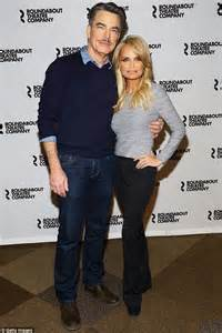 kristin chenoweth cuddles peter gallagher for on the kristin chenoweth cuddles peter gallagher for on the