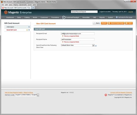 Send A Gift Card Through Email - how to decide magento enterprise vs community customer paradigm