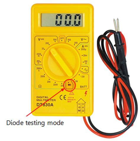 testing the diode symbol of dc voltmeter clipart best
