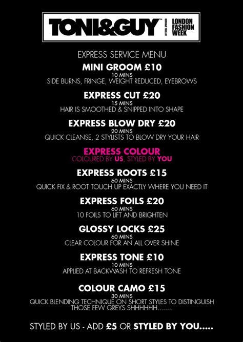 Haircut Express Prices | 17 best ideas about salon menu on pinterest nail salon
