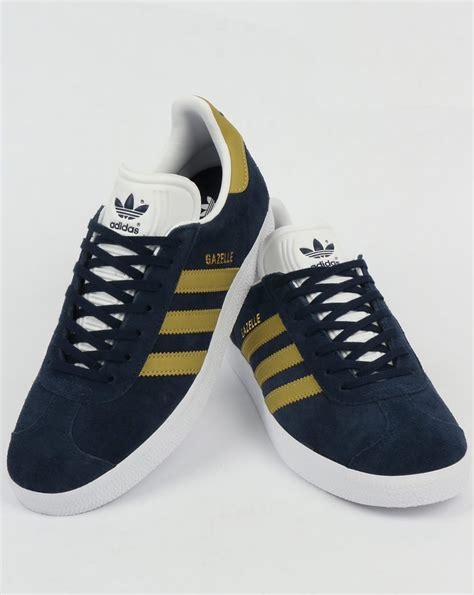 Adidas Gazele Navy adidas gazelle trainers navy gold originals shoes mens