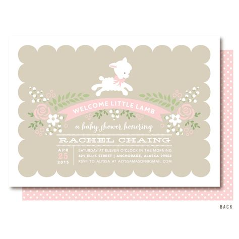 Sheep Baby Shower Invitations by Baby Shower Invitations Pink Invitation