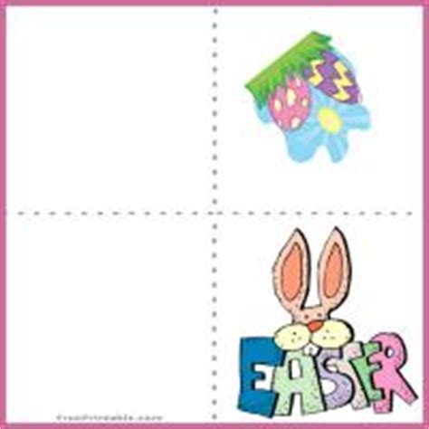 easter card templates print easter mini card