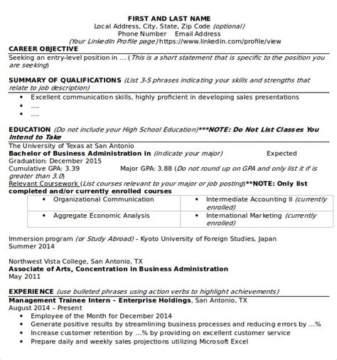 utsa resume template sle microsoft resume 9 documents in word