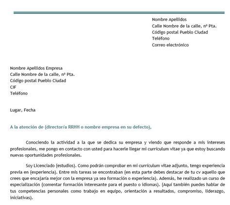 Modelo De Carta De Presentaci N De Un Curriculum modelo de carta de autocandidatura modelo curriculum