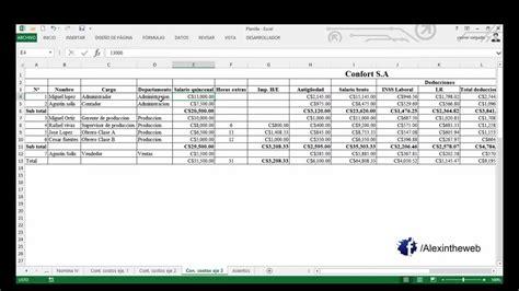 liquidacion nomina excel 2015 download pdf contabilizaci 243 n de nomina 2015 actualizado youtube